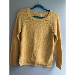 Yellow Old Navy Knit Sweater